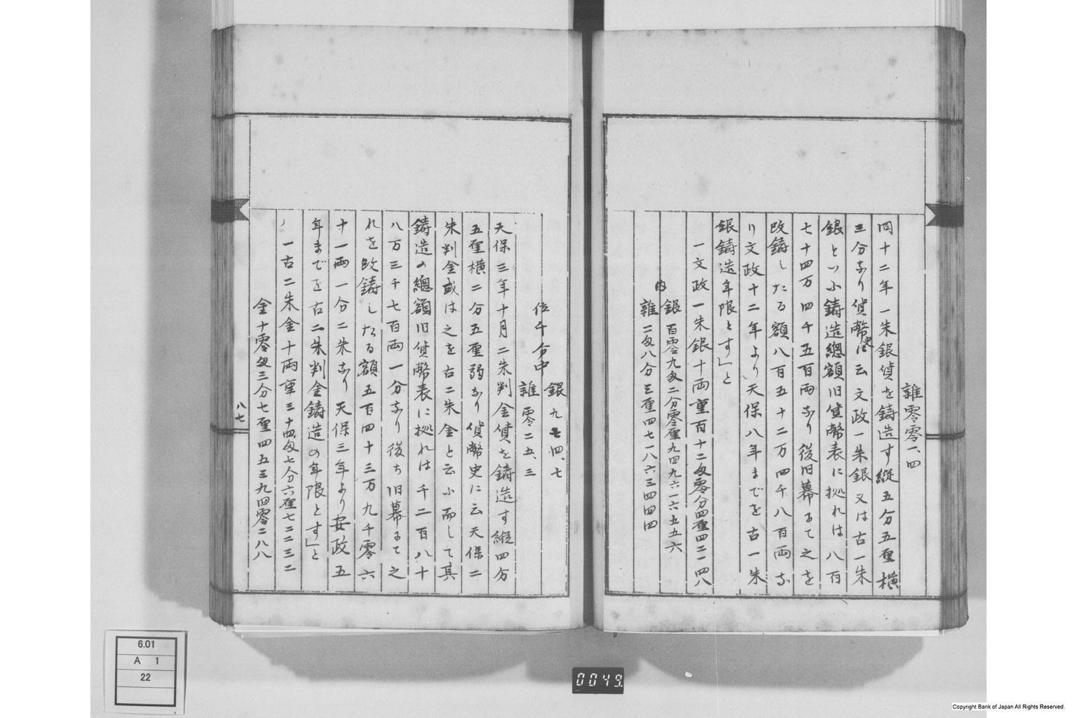 古文書(冊子・一紙・巻子・絵図) - 大日本社会事彙貨幣 貨幣博物館